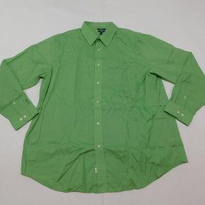 Croft & Barrow 18 1/2 36/37 Green Button Down Shir